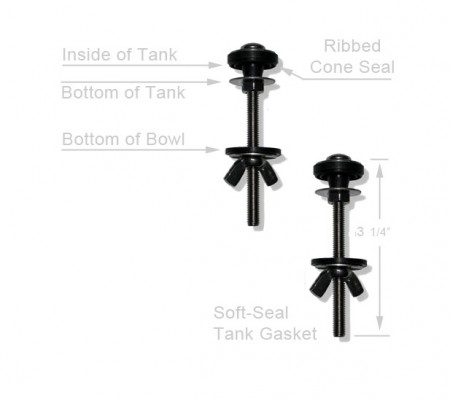 Stainless Steel Toilet Tank Mounting Bolts Set Of 2
