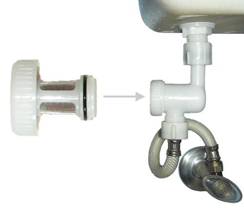 Tank Filler Valve Inline Screen Filter Water Saver