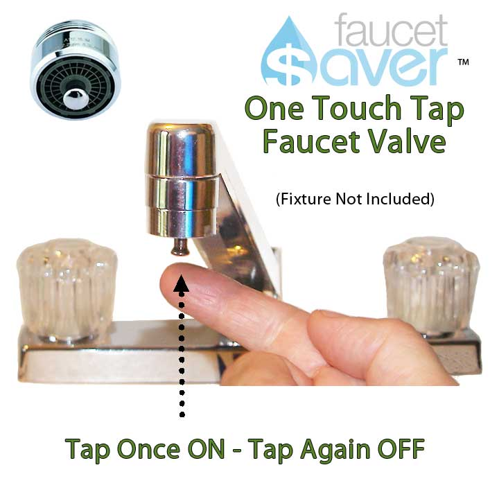 faucet aerator with on off switch. new1 ott sink  One Touch Tap Faucet Valve Kitchen or Bathroom Sink Water Saver