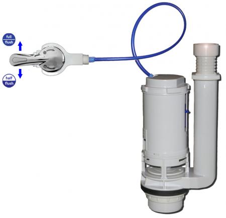 Basic Kit Reverse Dual Flushsaver Lever Handle 2 Piece